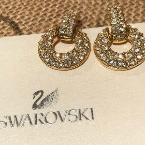 💃 💃 Swarovski Gold Crystal Pierced Earrings